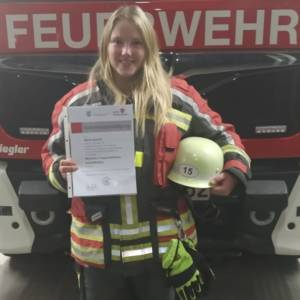 Neues Mitglied der aktiven Mannschaft – Maria Quandt besteht Truppmann Prüfung